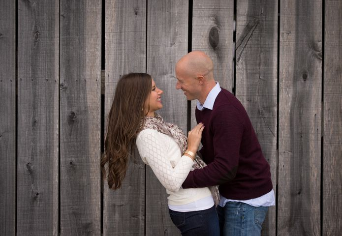 Sarah and Matt's engagement session on our farm was filled with love and laughter!