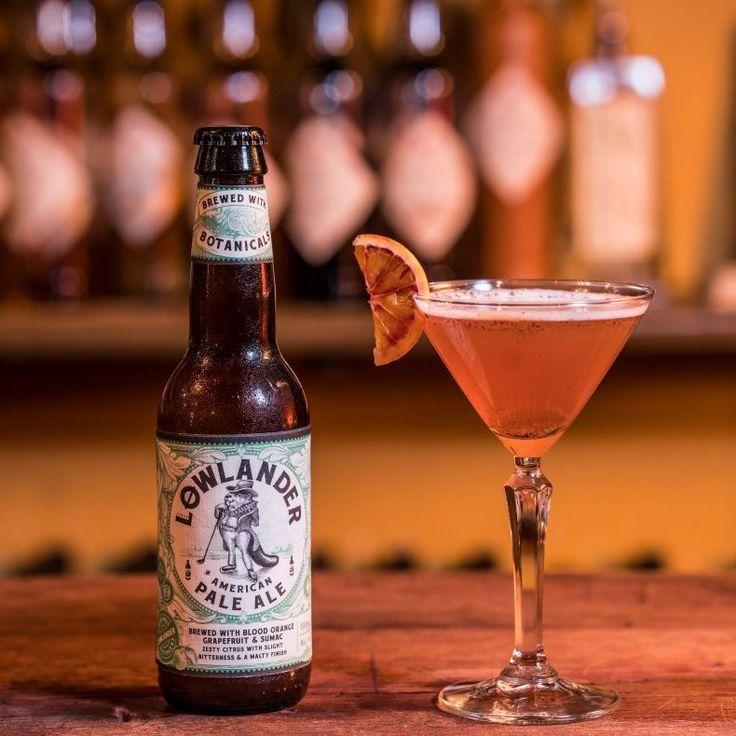 Lowlander American Pale Ale biercocktail (beertail) met o.a. spelt jenever, sinaasappel likeur en grapefruitsap. #biercocktail #beertail #cocktail #lowlander #bier #grapefruit http://bierliefde.nl/lowlander-apa/