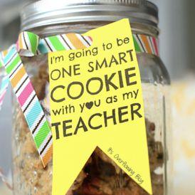 Great gift for the teacherTeacher Gifts, Back To Schools, Teachers Gift, One Smart Cookies, Teachers Appreciation, Gift Ideas, Mason Jar Crafts, Jars Teachers, Mason Jars Crafts