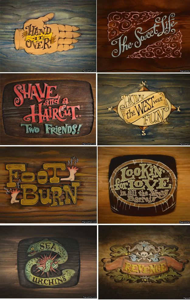The Marvelous Misadventures of Flapjack  title cards