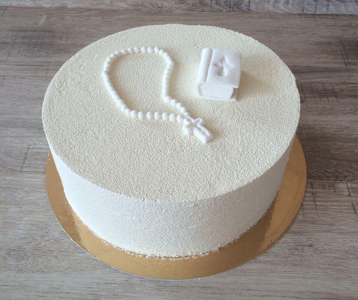 Муссовый торт на крестины