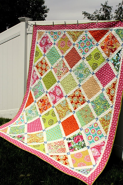 simple pattern for big prints - amy butler soul blossoms