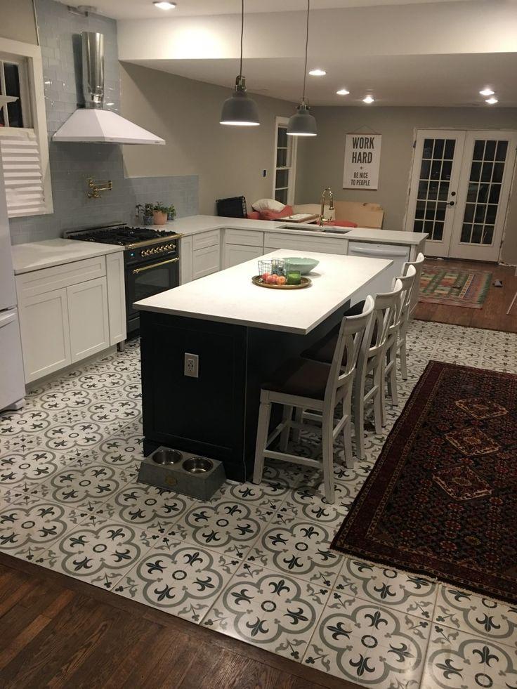 Matte Graphite w/ Brass range -- Newly renovated kitchen ...