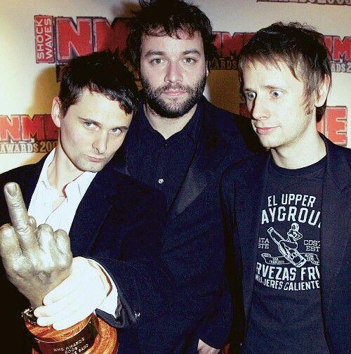 Matt Bellamy, Chris Wolstenholme & Dom Howard. #Muse