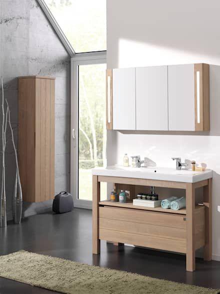 22 best salle de bain images on Pinterest Bathroom, Half bathrooms - badezimmermöbel holz landhaus