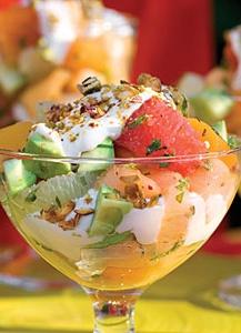 Fresh and Healthy Avocado Fruit Salad!!! Repin this healthy treat!! |myrecipes.com