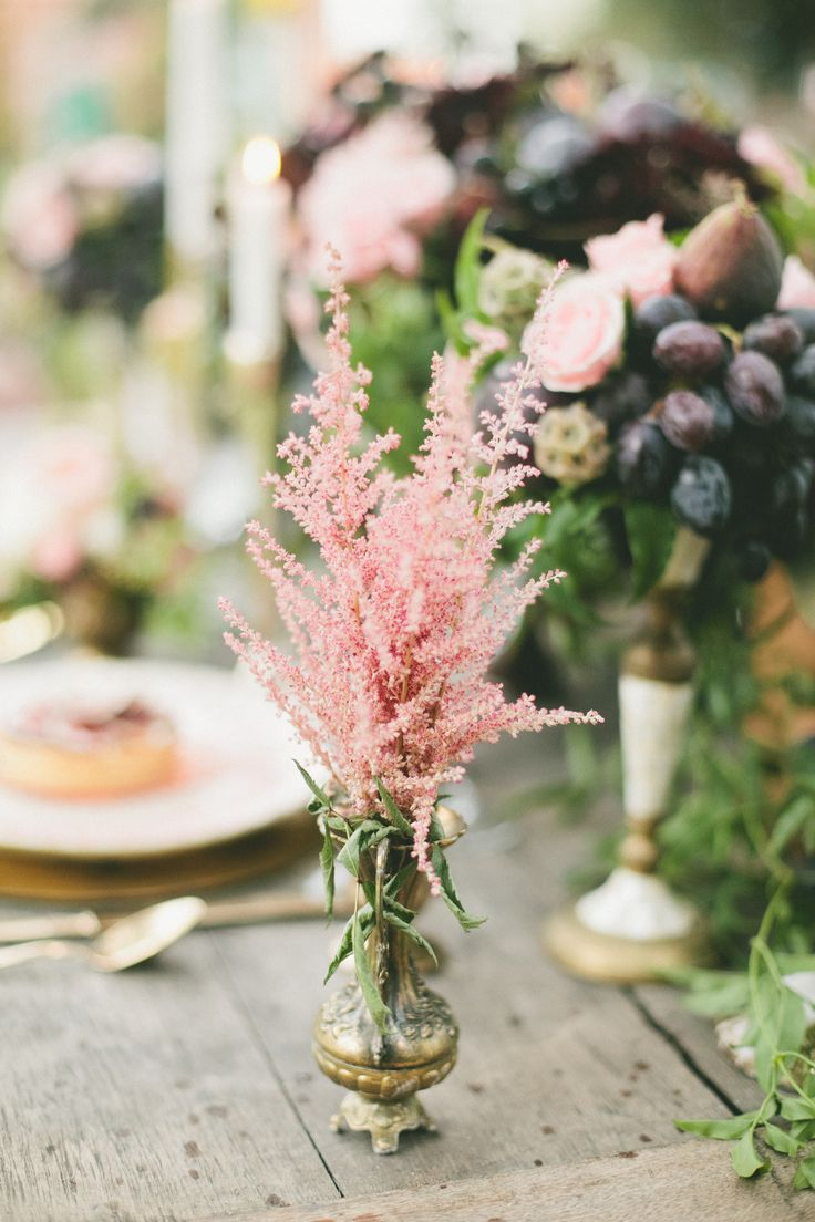 Love this little plant. #Astilbe | On SMP: http://www.stylemepretty.com/2014/01/30/figs-gold-wedding-inspiration/  Onelove Photography
