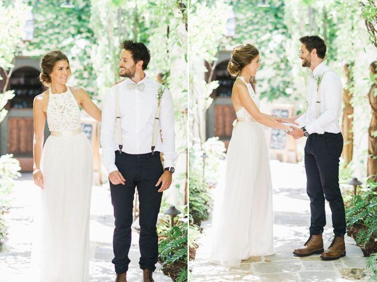 Bride + Groom first look | Katie + Pete | The Villa, San Juan Capistrano Wedding | ADRIAN JON PHOTO