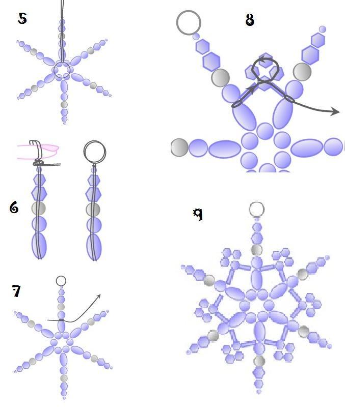 Chirimbolos o adornos para el arbolito de Navidad con cuentas : VCTRY's BLOG