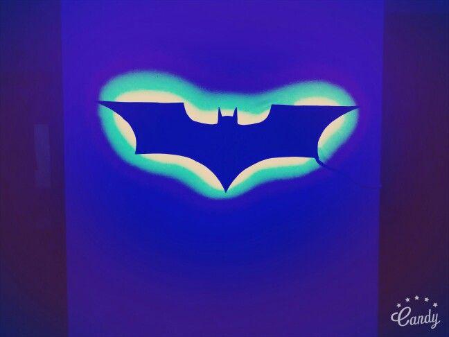 Batman Logo LED cutout