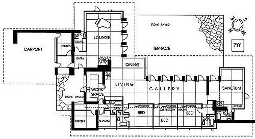 Griggs residence tacoma washington frank lloyd wright for Frank lloyd wright floor plan