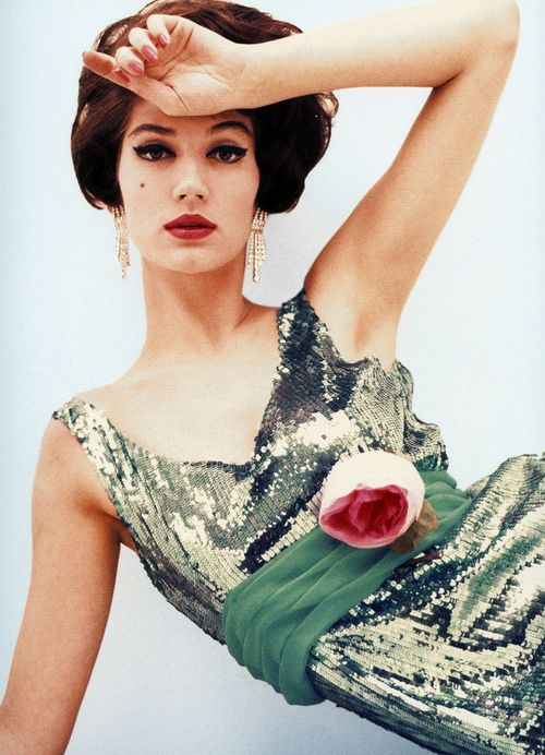 Simone d'Aillencourt, Vogue September 1958 | Floral and ...