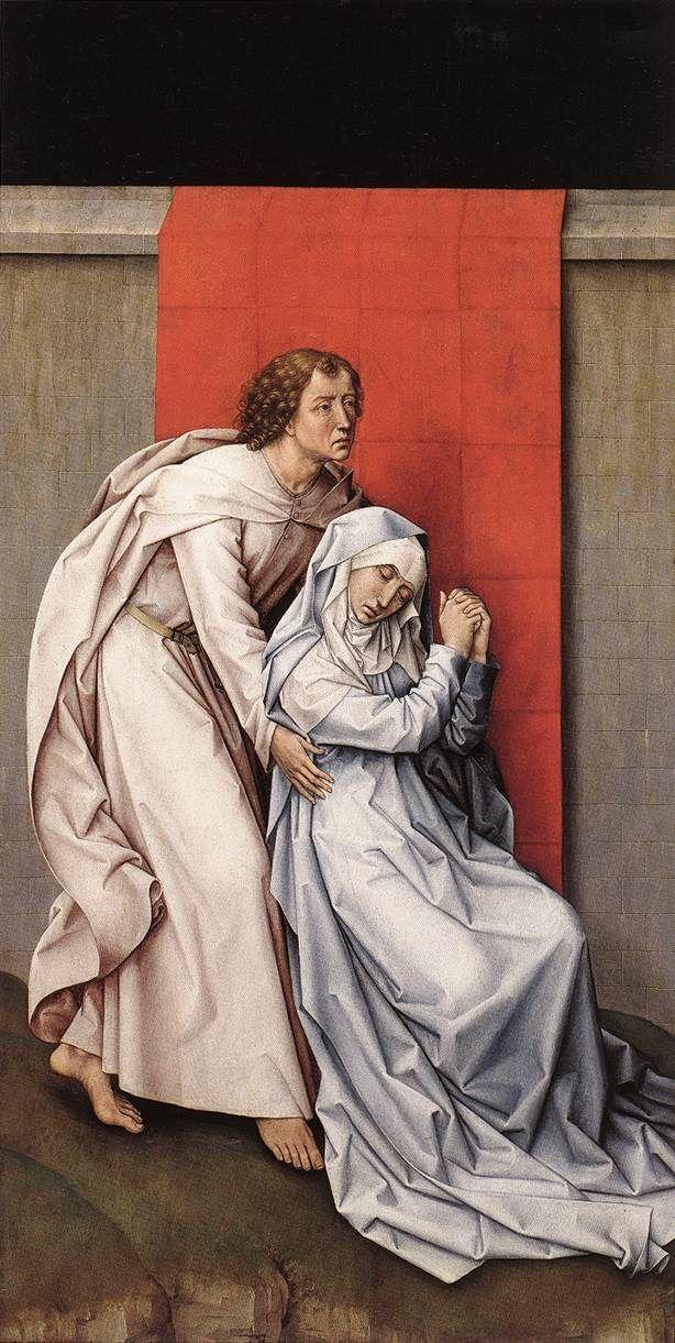 Crucifixion Diptych - left panel by Rogier Van Der Weyden