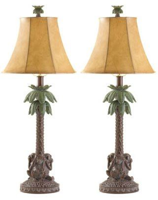 in Handmade:  Monkey Palm Tree Table Lamps.  http://www.farmersmarketonline.com/lamps.htm
