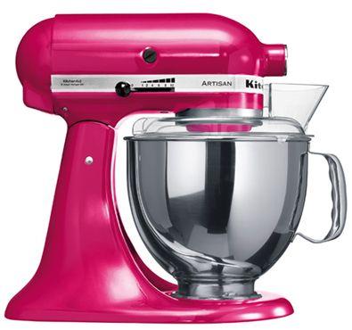 """KitchenAid Artisan Robot de Cozinha – Framboesa  <3  """"A personalidade de um cozinheiro expressa-se na criação de sensuais experiências culinárias que englobam todos os sentidos, incluído a visão. A KitchenAid considera as suas batedeiras como uma extensão criativa das mãos do cozinheiro, proporcionando um óptimo controlo a nível profissional. Esta Batedeira Artisan™ Chefe Tilt é tudo isso e tem um design icônico."""""""