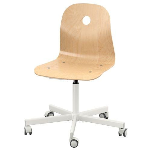 כיסא מסתובב Vagsberg Sporren Swivel Chair White Swivel Chairs Ikea Office Chair
