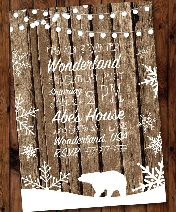 Winter Wonderland Birthday Invitation, Winter Birthday Invitation, Baby, It's Cold Outside Birthday Invitation