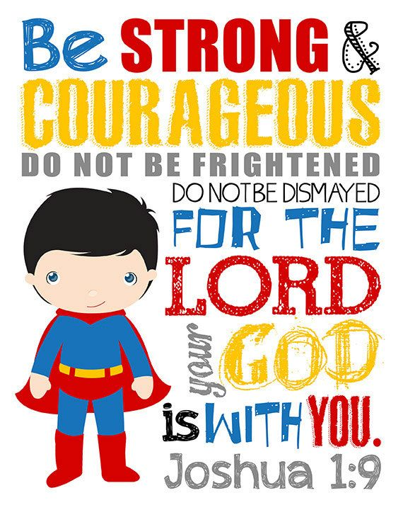 Please read entire description before purchase :)  Joshua 1:9 Bible Verse. Be Strong and Courageous  This printable is perfect for that little