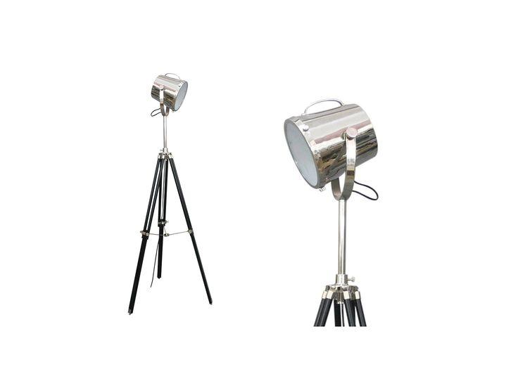 Lampadaire CINEMA en fer avec trépied - 160 cm