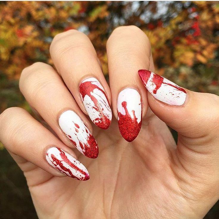 """Nerd Makeup Ambassador ohnoitsruthio(IG) absolutely killing it in these """"Killer"""" nail wraps by Espionage Cosmetics!  #EspionageCosmetics #NerdManicure #NerdNails #NailArt #Nailspiration #Halloween #HalloweenNails #HalloweenNailArt"""