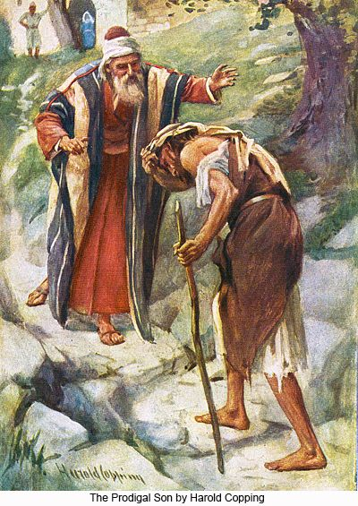 The Prodigal Son by Harold Copping--Luke 15:11-32