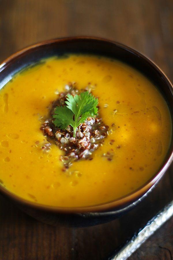 Roasted Sweet Potato Soup with Quinoa