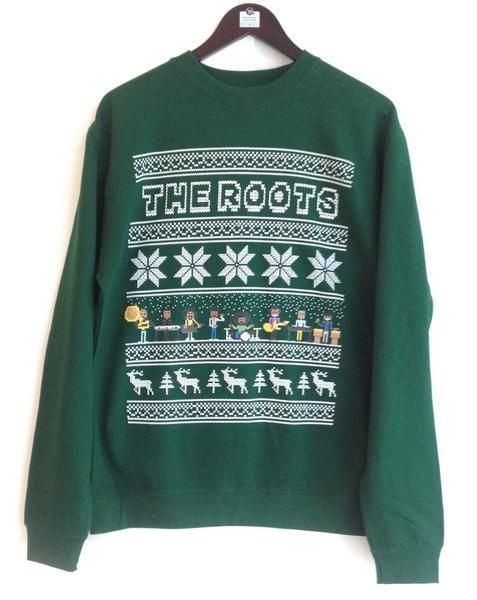 Vintage The Roots Uncle Ray Rays Ugly Christmas Sweater Sweatshirt