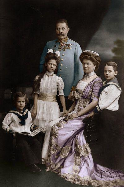Archduke Franz Ferdinand of Austira & his wife Sophie & their children colored by KraljAleksandar on DeviantArt.