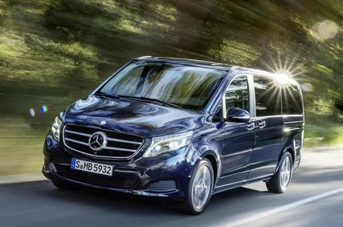 Private Transfer in Luxury Van: Munich Airport Departure Enjoy a comfortable transfer from your Munich center hotel to Munich Airport in a private air-conditioned van. Your driver is multi-lingual and will make sure that your departure from Munich is as comfortable and relaxing as possible. Why go through long lines for a shuttle transfer or wait for a taxi when you can choose to travel in style in a private luxury van with up to 6 people in your group (depending on option sel...
