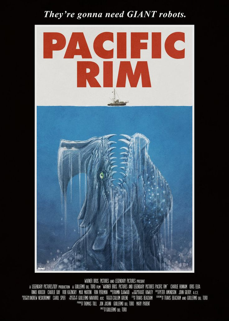 Pacific Rim / Jaws by ~Cakes-and-Comics on deviantART
