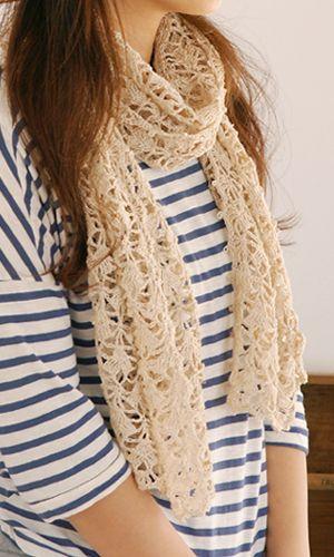 Crochet Shawl, lovely stitchpattern. Free download - diagram/Japanese.