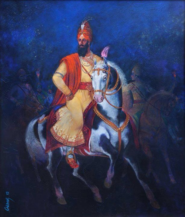 Sikh guru saint warrior Guru Gobind Singh Ji who fought and won MANY battles against Mughals and fought for innocent women children men and sacrificed himself and his whole family for country india by jasleen kaur