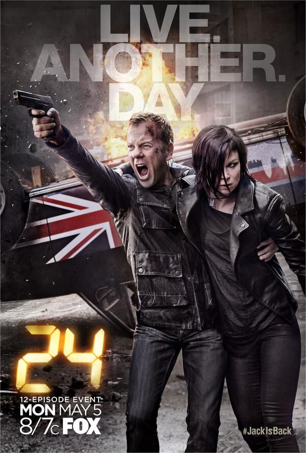 24: Live Another Day ... Jack is back! ... Set in London, a compressed twelve-episode story arc returns on FOX - 5.5.14. - I'M SO EXCITED (but I have to catch up first)