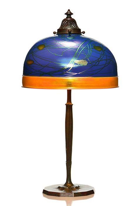 Elegant Steuben And Tiffany Lamp Circa 1910s The Impressive Shade A Beautiful Art