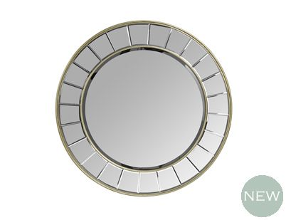 Save   Was   Now Art Deco Inspired With An Attractive Champagne Finish, Our  Circular Rene Mirror Will Look Stunning On A Feature Wall.