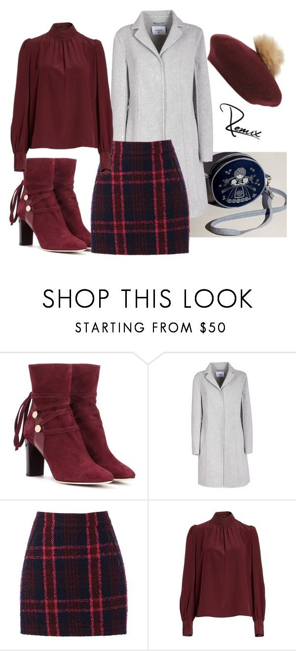 """Burgundy dream"" by aleva on Polyvore featuring Jimmy Choo, Dondup, Oasis, Marc Jacobs and NYC Underground"