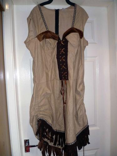 LADIES INDIAN FANCY DRESS COSTUME SIZE XL | eBay