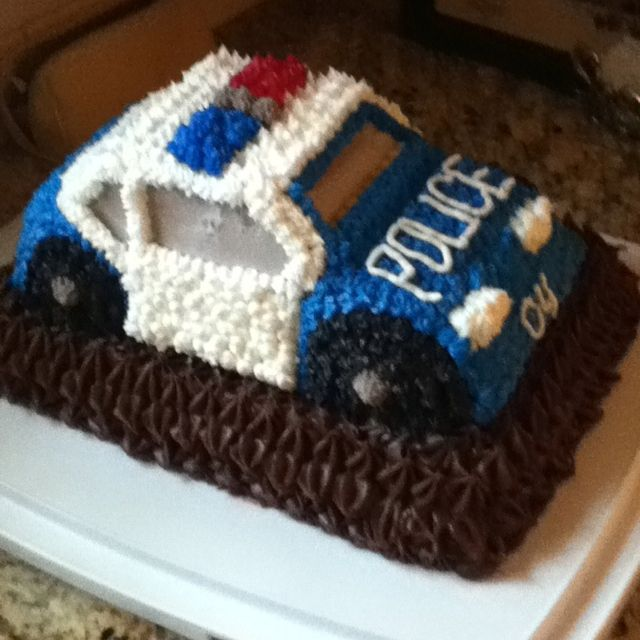 Police car cake made by my mom.                                                                                                                                                                                 More