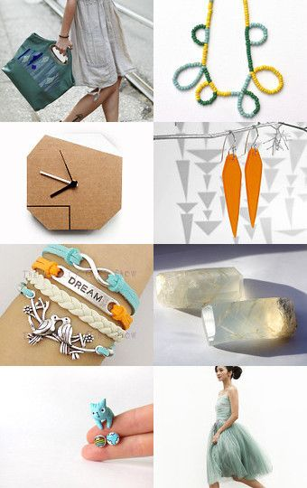Bag, birds and a blue cat by Tiziana on Etsy--Pinned with TreasuryPin.com