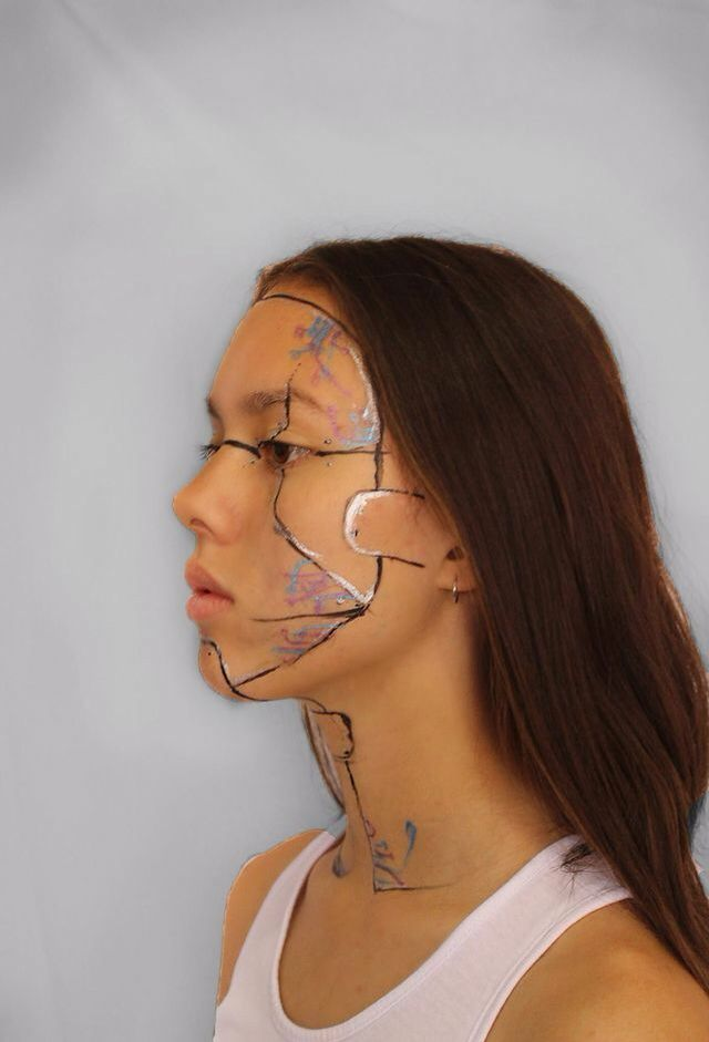Cyborg makeup- Photo taken by Ashleigh Hunter