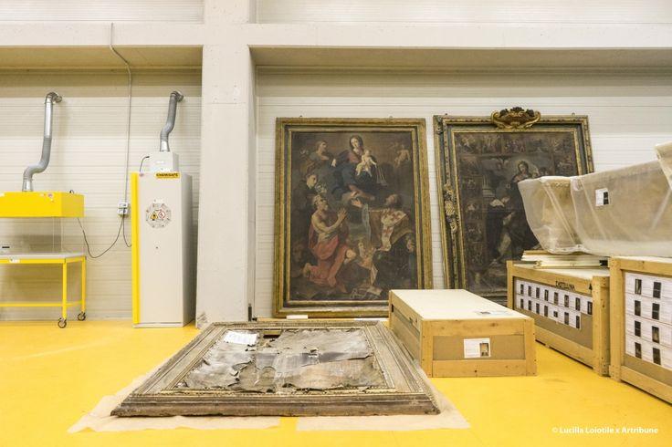 Il Deposito del beni Culturali del Santo Chiodo, Spoleto, in cui trovano riparo, restauro e nuova vita tutte le opere d'arte che vi vengono portate.