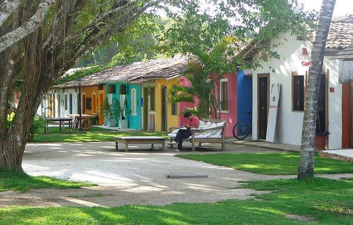 Casario típico no Quadrado de Trancoso, sul da Bahia