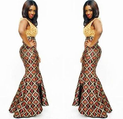 long ankara gowns - Google Search