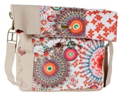 Desigual women's Ibiza Rojo Mandala bag. Our special view of the messenger bag