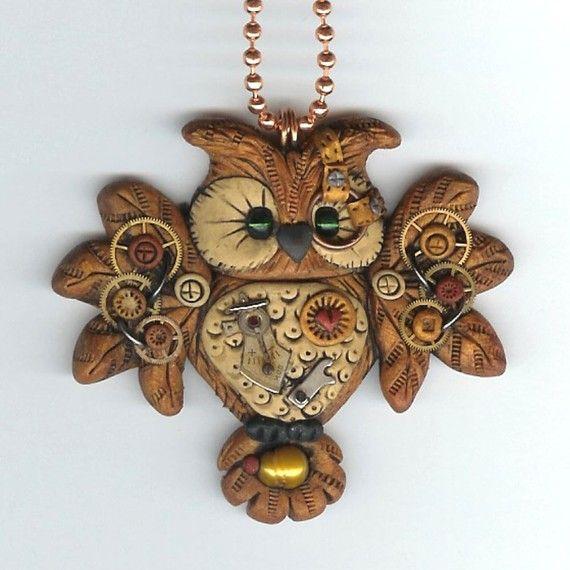 Steampunk Hooty Owl Necklace
