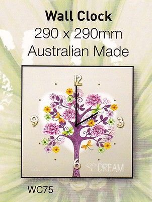 Lisa Pollock Tree Of Love Wooden Wall Clock Tree Dream Australian Made WC75