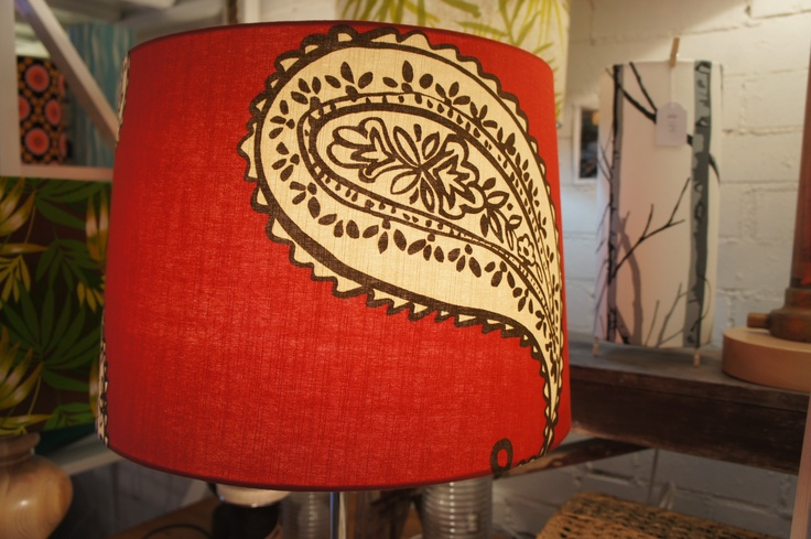 Our paisley Lampshade! loving the colours, and simplicity. Shady Designs.