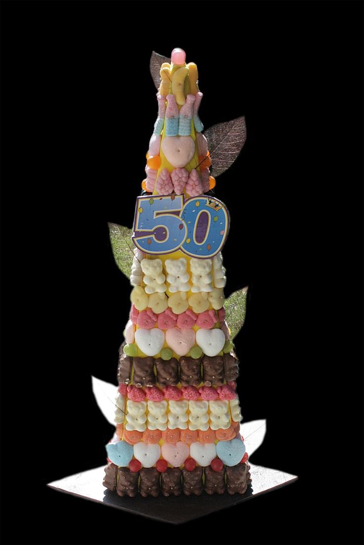 Pièce montée de Bonbons spéciale 50 Ans.
