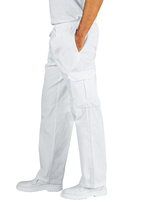 MODEL CHEF. - 100 lei. Un pantalon comod, conceput cu buzunare clasice dar si cu doua buzunare aplicate pe lateralul lor, cu banda elastica, dublata de snur la partea superioara, care fac din acest model de pantaloni alegerea perfecta pentru cine isi doreste un plus de comoditate in bucatarie.
