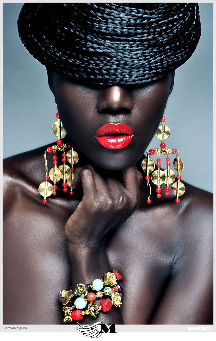photo by mario epanya Fierce Dark, beautiful, black models. african, dark skin, fashion, beautiful skin.